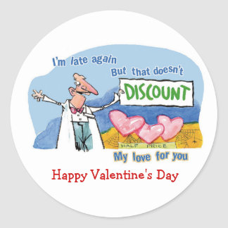 Discount Love Classic Round Sticker