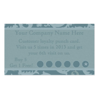 Discount Promotional Punch Card Business Card