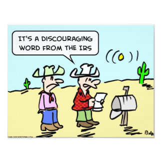 discouraging word IRS taxes Card