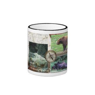 Discover Alaska Ringer Coffee Mug