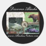 Discover Alaska Round Sticker