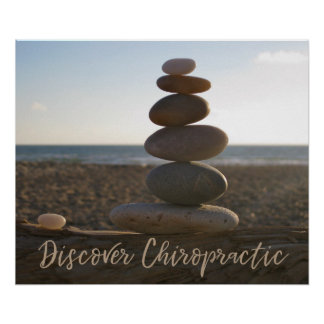 Discover Chiropractic Balanced Rocks Poster