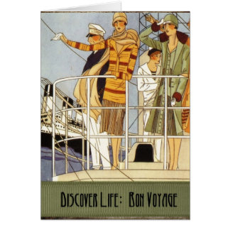 Discover Life:  Bon Voyage Greeting Card