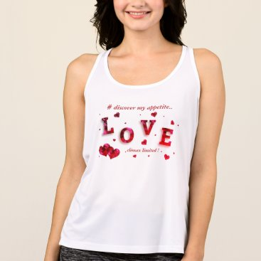 Beach Themed Discover my appetite.. tank top