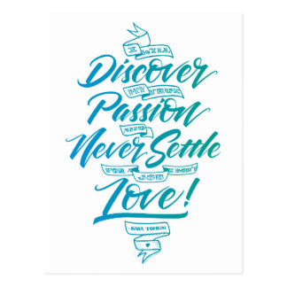 Discover My True Passion Postcard, Blue Postcard