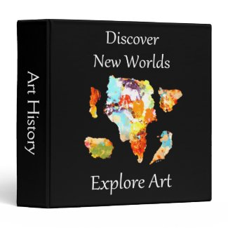 Discover New Worlds - Explore Art Customizable 3 Ring Binder