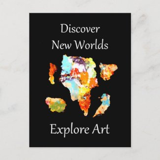 Discover New Worlds - Explore Art Post Cards