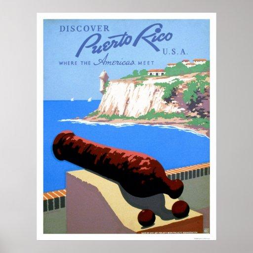 Discover Puerto Rico 1940 WPA Poster