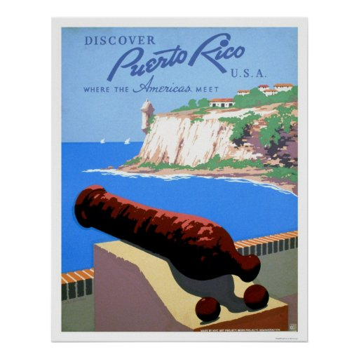 Discover Puerto Rico 1940 WPA Posters