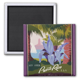 Discover Puerto Rico 2 Inch Square Magnet