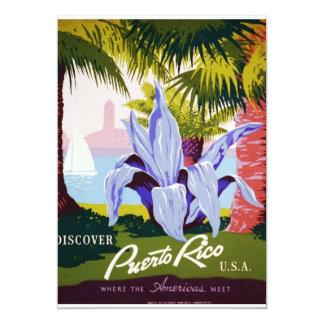 """Discover Puerto Rico 5"""" X 7"""" Invitation Card"""