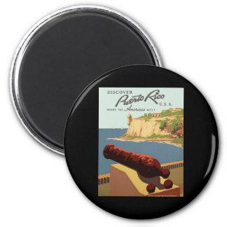 Discover Puerto Rico Refrigerator Magnet
