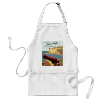 Discover Puerto Rico Poster Adult Apron