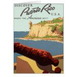 Discover Puerto Rico Poster Card