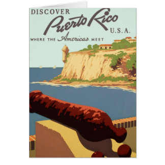 Discover Puerto Rico Poster Card