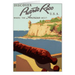Discover Puerto Rico Poster Greeting Card