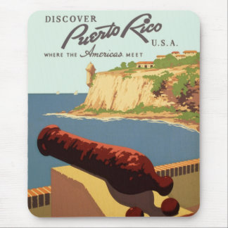 Discover Puerto Rico Poster Mouse Pad
