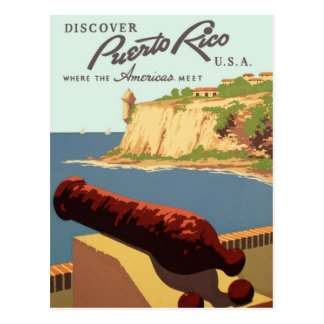 Discover Puerto Rico Poster Postcard