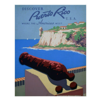 Discover Puerto Rico - Travel Poster
