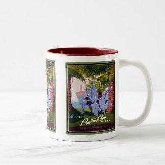 Discover Puerto Rico Two-Tone Coffee Mug