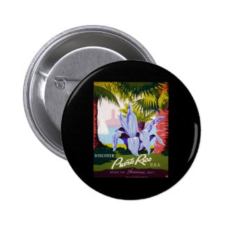 Discover Puerto Rico U.S.A. 2 Inch Round Button