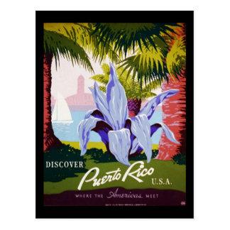 Discover Puerto Rico U.S.A. Postcard