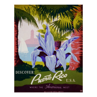 Discover Puerto Rico U.S.A. Poster