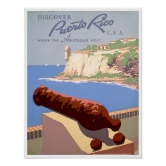 Discover Puerto Rico, U.S.A. Poster