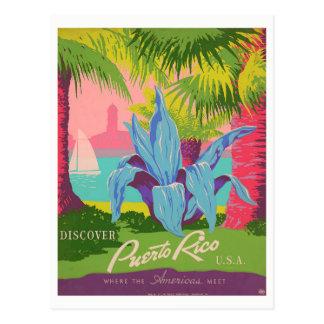 """""""Discover Puerto Rico"""" Vintage Postcard"""