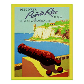 Discover Puerto Rico ~ Vintage Travel Poster