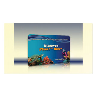 """""""Discover PUSSI Diver"""" Certifcation Card Business Card"""