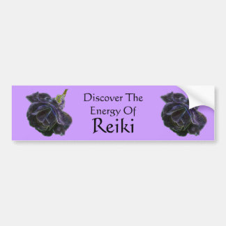 Discover The Energy Of Reiki Rose Bumper Sticker