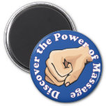 Discover the power of massage 2 inch round magnet