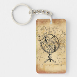 Discover the World Double-Sided Rectangular Acrylic Keychain