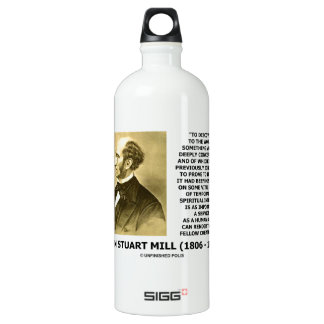 Discover To The World Service Human Beings JS Mill Aluminum Water Bottle
