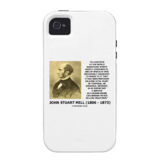 Discover To The World Service Human Beings JS Mill iPhone 4 Cover