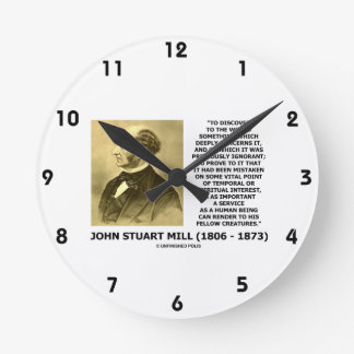 Discover To The World Service Human Beings JS Mill Round Clock