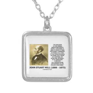 Discover To The World Service Human Beings JS Mill Square Pendant Necklace