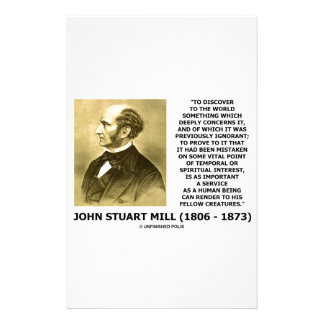 Discover To The World Service Human Beings JS Mill Stationery
