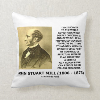 Discover To The World Service Human Beings JS Mill Throw Pillow