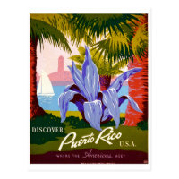 Discover Travel, Puerto Rico History Postcard