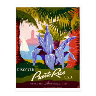 Discover Travel, Puerto Rico History Postcard
