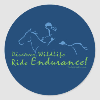 Discover Wildlife - Endurance Horse Classic Round Sticker