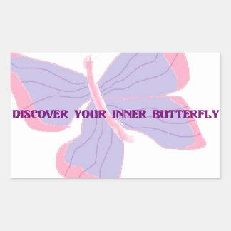 Discover Your Inner Butterfly Rectangular Sticker