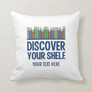 Discover Your Shelf custom throw pillow