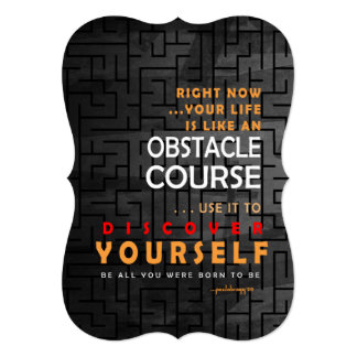 Discover Yourself  (Obstacle Course Inspiration) Card