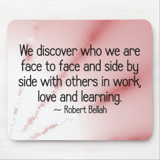 Discover yourself through love and learning mouse pad