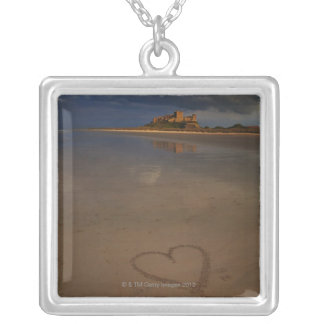 Discovering and falling in love with new places square pendant necklace