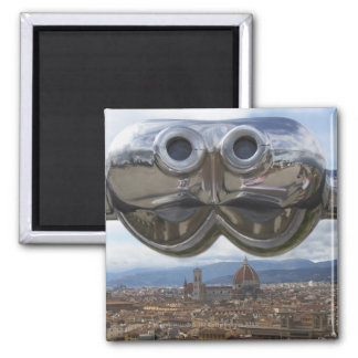 Discovering Florence in Italy 2 Inch Square Magnet