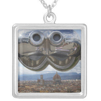 Discovering Florence in Italy Square Pendant Necklace